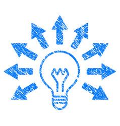 Ultraviolet lamp grunge icon vector