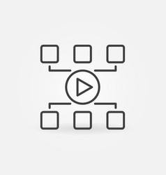 video blog concept icon in thin line style vector image