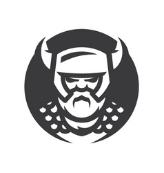 viking warrior silhouette sign vector image