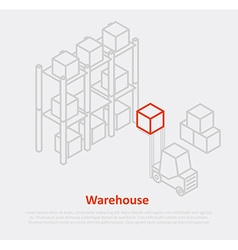 Warehouse thin ine design eps 10 icons vector