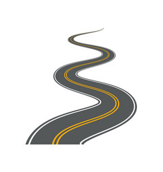 winding road highway path long street vector image