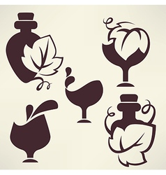 Wine emblems vector