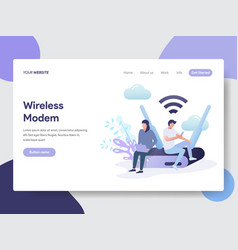 Wireless modem concept vector