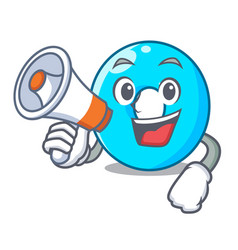with megaphone the number zero on the character vector image
