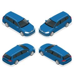 5-door hatchback car isolated isometric vector image vector image