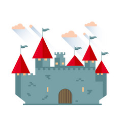 cartoon fairy tale castle tower vector image vector image