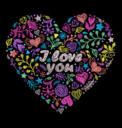 colorful valentine s heart vector image vector image