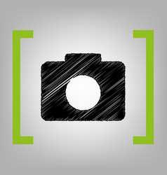 digital camera sign black scribble icon vector image
