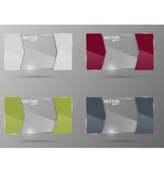 Glass banner set Design template vector image vector image