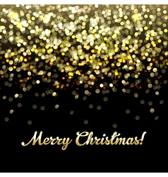 Golden Defocused Merry Christmas Background vector image vector image