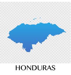 honduras map in north america continent design vector image vector image