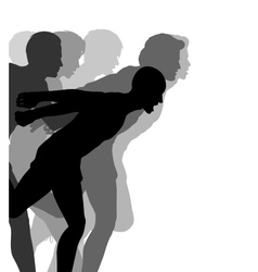 Photo finish vector image vector image