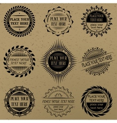 Set of vintage signs and labels vector image vector image