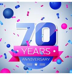 Seventy years anniversary celebration on grey vector