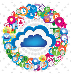 cloud communication design vector image