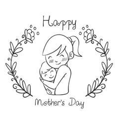 hand draw mother day style design vector image vector image