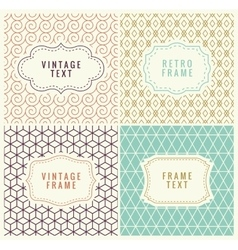 Minimal Background Retro Mono Line Frames with vector image vector image