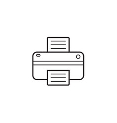 printer line icon outline logo vector image vector image