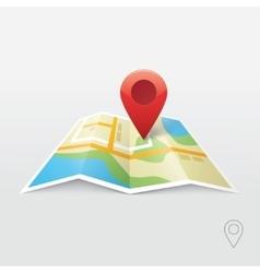 Road map GPS navigation vector image vector image