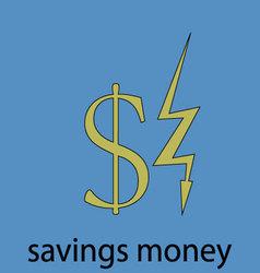 Saving money economy icon vector image