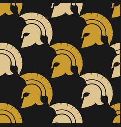 spartan warriors seamless pattern vector image vector image
