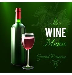 Wine Menu Template vector image vector image