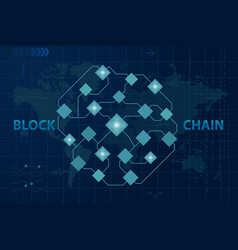 blockchain global crypto currency technology vector image
