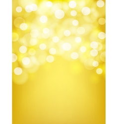 blurry golden abstract background vector image vector image