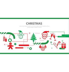 christmas banner flat design vector image