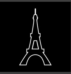 eiffel tower it is icon vector image vector image
