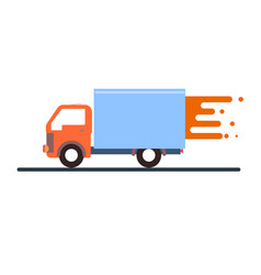 express delivery truck on a white background vector image vector image