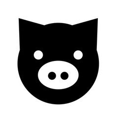 pig head farm icon vector image vector image