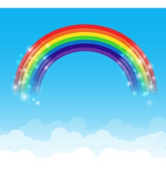 Rainbow cloud and sky background 002 vector image vector image