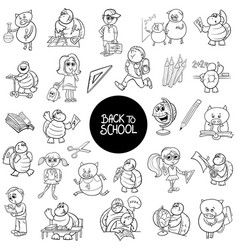 school and education carton characters set vector image vector image
