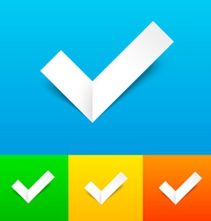Tick Confirmation Icon Set vector image vector image