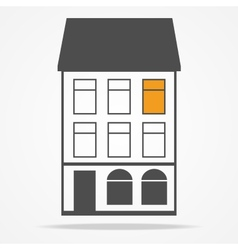 two old houses with mansard roofs vector image