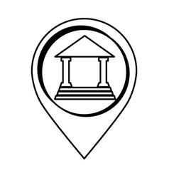 Building roman columns icon vector
