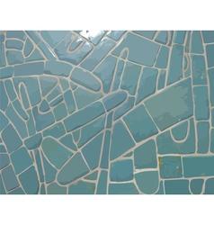 Glazed cyan stone mosaic texture vector image vector image