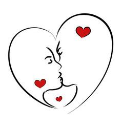 man and woman kissing vector image