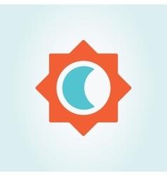 sun and moon logo vector image vector image