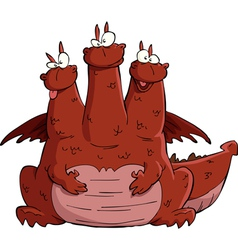 three headed dragon vector image vector image