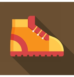 Tourist Hiking Boot Icon vector image