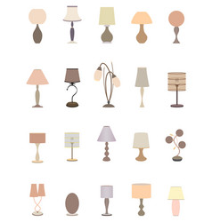 twenty pastel colors elegant lamps collection for vector image vector image