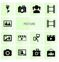 14 picture icons vector