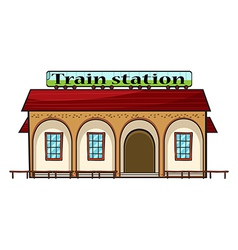 A train station vector
