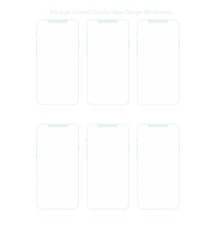 a4 dotted paper for app designs vector image