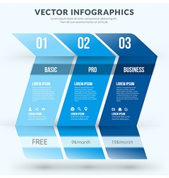 abstract infographic design element flat style vector image