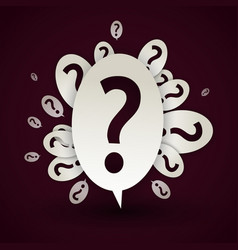 abstract question mark speech bubble vector image vector image