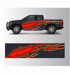 abstract racing graphic background for offroad vector image