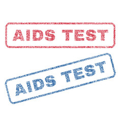 Aids test textile stamps vector